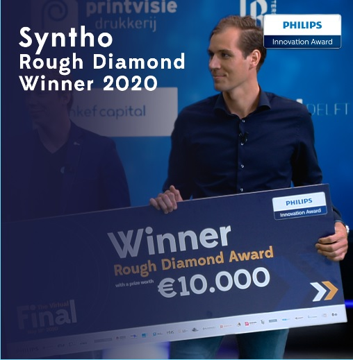 Syntho - synthetic data software. Syntho Winner of the Philips Innovation Award 2020 with their synthetic data solution