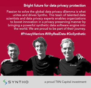 Syntho synthetic data solution press release tiin capital